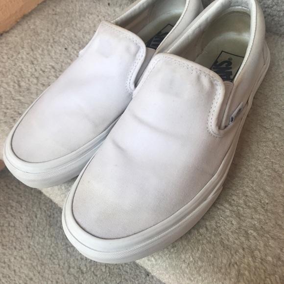 Vans Shoes   White Slip On Vans 7